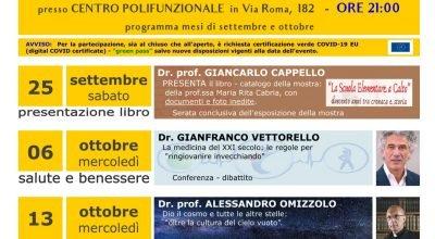 Calendario eventi culturali mesi di settembre e ottobre