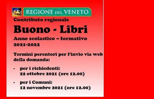 Contributo regionale BUONO LIBRI anno scolastico 2021 – 2022
